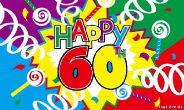 Happy 60th Birthday  (Streamers)